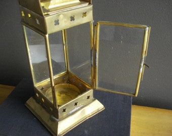 Light of my Lantern - Vintage Brass Lantern or Candle Holder