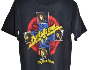 Vintage 80s 1987 DOKKEN Back For The Attack Rock Concert Tour T SHIRT M RARE!