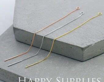 6 pcs (3 pair) 83mm Golden Filled Ear thread Ear Wire (ZE167)