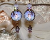 Fairy garden cabochon image bead charm Picasso earrings Pamelia Designs Sacred Jewelry