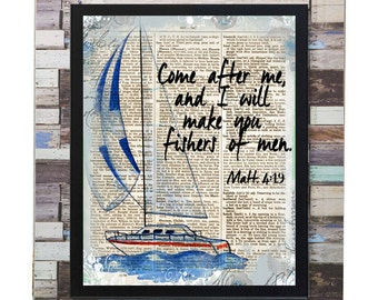 Dictionary Sailboat Print Wall Artwork Missionary Pioneer Typography Scripture JW Printable - Stick to Your Story