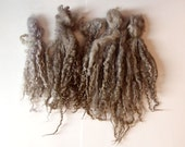 doll hair gray ash blonde extra long locks 8-12 in for Doll Hair - Blythe Doll Hair ,  Art Dolls,  , spinning and felt