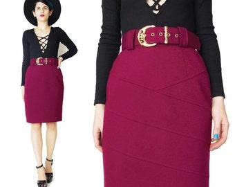 Belted skirt | Etsy