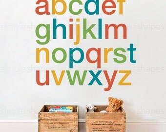 Alphabet Wall Decals - Wall Sticker