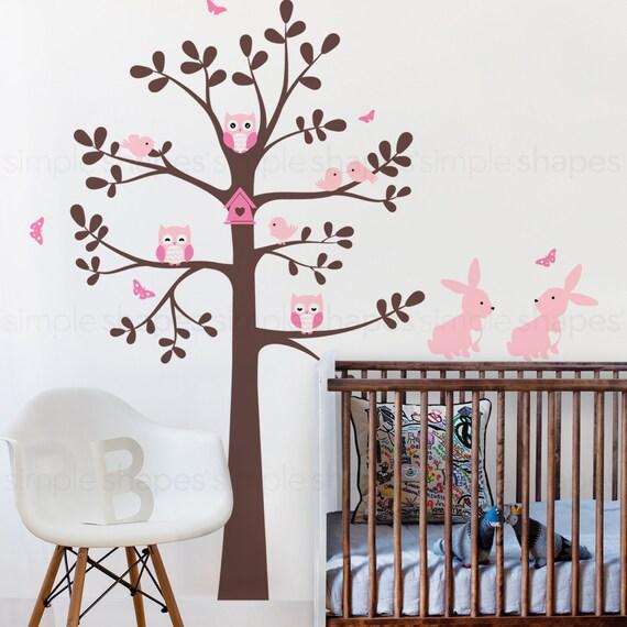 Sticker mural arbre avec d calque de chambre par simpleshapes for Decalque mural