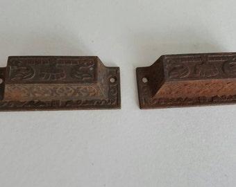 Antique Thick Metal Drawer Pulls