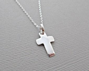 Silver Cross Necklace, Cross Necklace