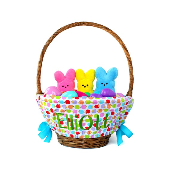 Personalized Easter Basket Liner Rainbow By Ourlittlemesses