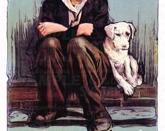 Charlie Chaplin - Vintage Movie Art - Dog's Life - 11x17 Art  Reproduction -