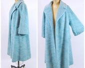 1950s XL Lilli Ann Coat - Light Blue Lilli Ann Swing Coat - Blue Lilli Ann Coat