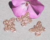 Lotus Pattern Butterfly Flutterbug 18mm x 14mm Metal Blanks Shape Form Variety of Metals