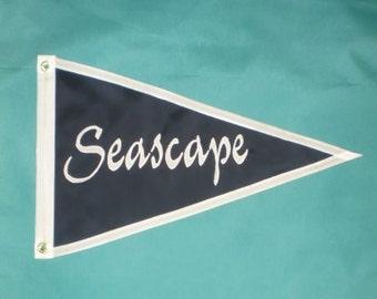 """Boat Flag Custom Nautical Boat Name 16x24"""""""