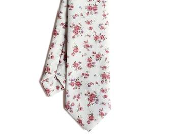 Jamie - Pink Floral Men's Tie