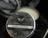 Alma Gitana Natural Solid Perfume Gypsy Apothecary Patchouli,Tuberose, Tobacco,Plum, Jasmine, Bergamot, Cinnamon, Myrhh, Black Pepper