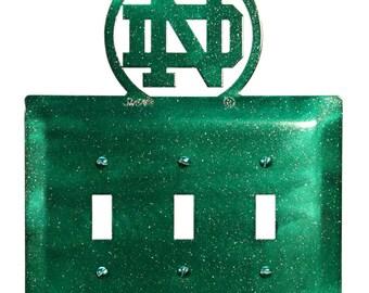 North Dakota UND Fighting Hawks Light Switch Triple Plate Cover