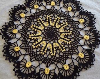 Free Shipping Halloween Crochet Beautiful Doily