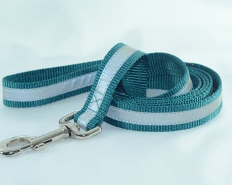 Reflective Teal 6ft Safety Leash