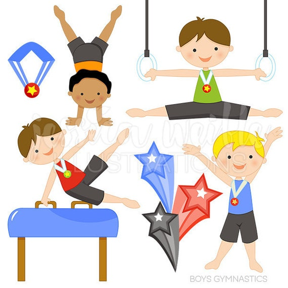 boys gymnastics cute digital clipart commercial use ok rh catchmyparty com gymnastic clip art free gymnastic clip art free