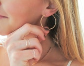 """Gold Hoop Earrings Small - Rose Gold Hoops - Small Sterling Silver Hoop - 1.5"""" Hoops - 14k Gold Fill Small Hoops - Small Gold Hoop Earrings"""