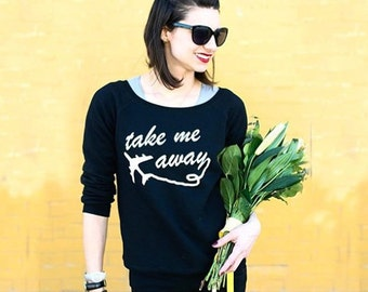 Take Me Away  / loose fit sweater - jet setter - wanderlust - travel often - airplane - traveler - wanderer - plane fight outfit - vacation