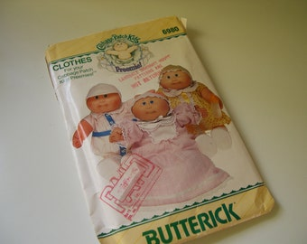 Vintage Butterick Cabbage Patch Kids Clothing Patterns 1984