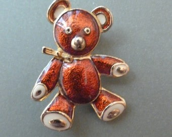 Vintage Teddy Bear Pin