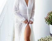 White Maxi Cover Up Dress