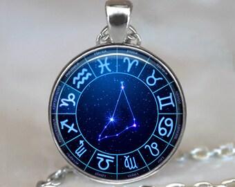Capricorn Star Wheel Zodiac necklace, Capricorn necklace constellation necklace constellation jewelry zodiac pendant key chain