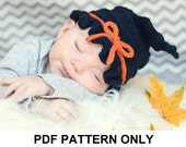 Witch Hat Knitting Pattern - Baby Witch Hat Pattern - the GLINDA Hat (Newborn Baby Toddler Child & Adult sizes incl'd)