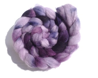 LILAC TREE OOAK Bluefaced Leicester Roving hand dyed 100gr/3.5oz