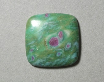 RUBY in FUCHSITE square cabochon 30X30mm diamond designer cabochon