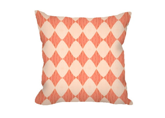Coral pillow cover peach pillow cover decorative pillow