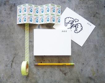 24 pt Baskerville Italic Hand-Set Personalized Letterpress Printed Note Cards
