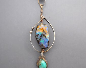 Opal in a Cage Necklace