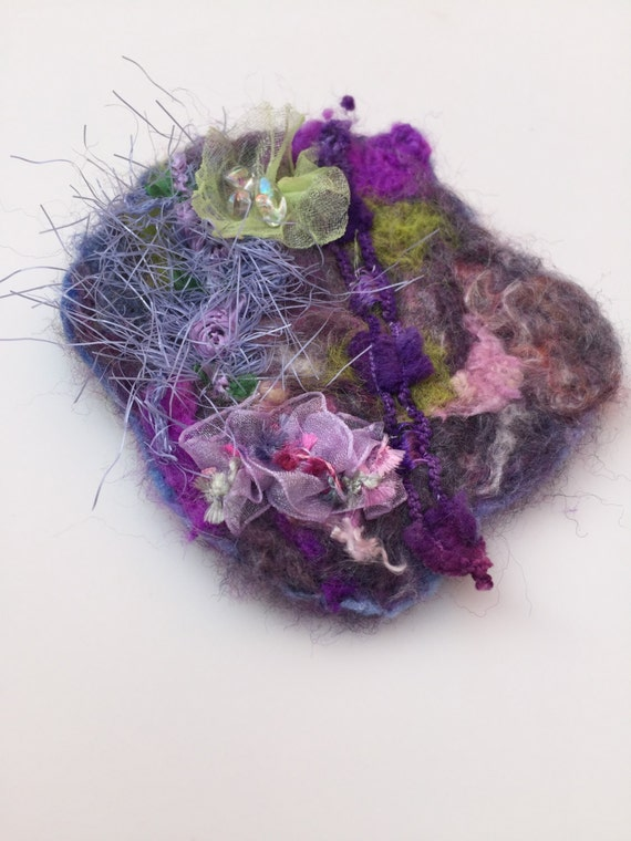 purple green and pink mixed media needle felted by desiredhearts. Black Bedroom Furniture Sets. Home Design Ideas