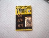 Hi-Test Coppertone Shoe Plates Taps Copper Crescents Original Card