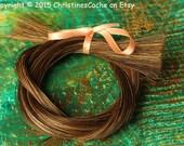 """Natural Ginger Red Sorrel Horse Hair for weaving, braiding, bracelets, tassels Auburn Ginger 12 grams - 30-32"""" long - HH-RED"""
