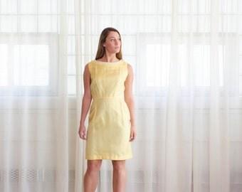 Yellow 60s Dress - Vintage 1960s Dress - Buttercream Dress