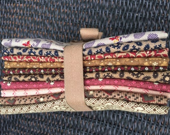 "FAT QUARTER STASH Bundle - - 10 Fat Quarters from Judie Rothermel's Fabric Collection titled ""Judie's Album Quilt"