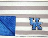 Kentucky Baby/Toddler Embroidered Minky Dot Blanket