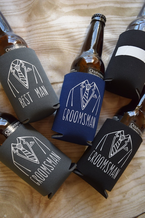 ... Cooler Gifts, Groomsman Gift, Beverage Insulators, Wedding Party Gifts