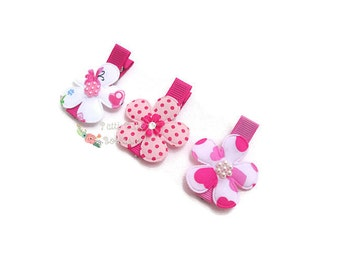 Pink Baby Hair Clips, Baby Girl Hair Clips, Baby Barrettes, Girls Hair Clips, Toddler Hairclips, Baby Shower Gift, Hair Clips for Girls