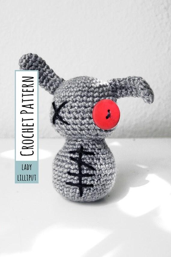 PATTERN - Crochet Zombie Bunny Amigurumi