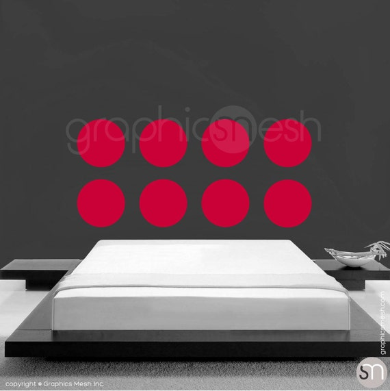 Wall stickers POLKA DOTS 8 x 13.5 inches - Simples circle shapes - Interior decor by GraphicsMesh