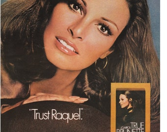 1973 Raquel Welch CLAIROL Hair Color Ad - Authentic Original Advertising - Celebrity Ad