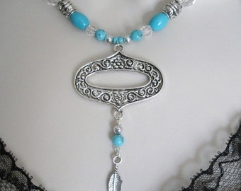 Turquoise Necklace, boho jewelry bohemian jewelry gypsy jewelry hippie jewelry moroccan new age ethnic tribal boho chic bohemian necklace