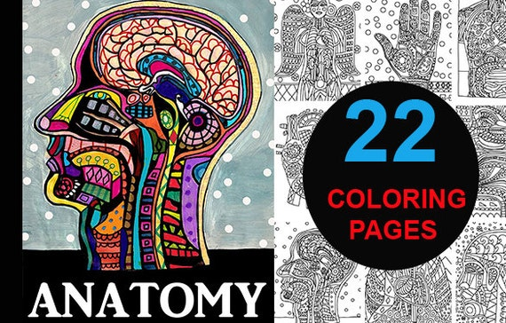 Anatomy Coloring Book For Health Professionals : Anatomy digital coloring book pagesheather galler medical