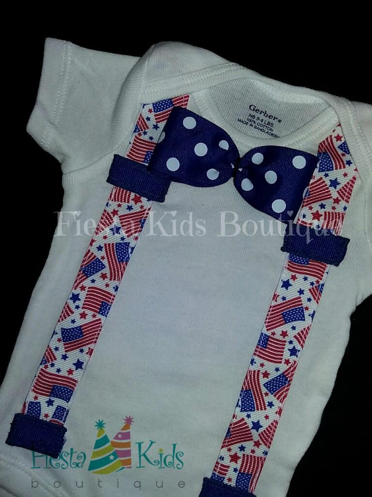 baby boy onesie bow tie onesie patriotic baby