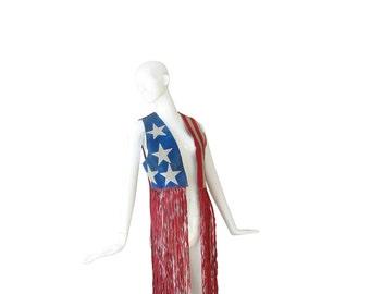 70s Hippie Boho Vest • 1970s Suede Fringe Top • Unisex • XS S M
