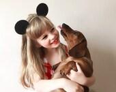 Mickey Mouse Ears Headband Fall Hallowen Hair Bow, giddyupandgrow